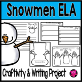 Snowman Expository Writing Activities for ELA and Science