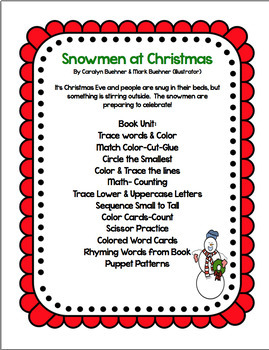 SNOWMEN AT CHRISTMAS  BOOK UNIT