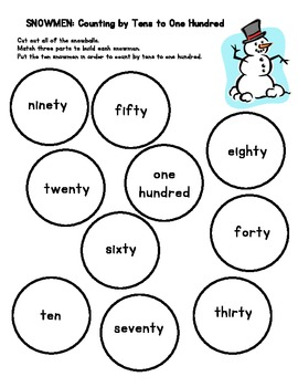 SNOWMEN: Counting by Tens to One Hundred