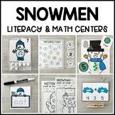 SNOWMEN Literacy & Math Centers for Winter (Preschool, PreK, Kindergarten)