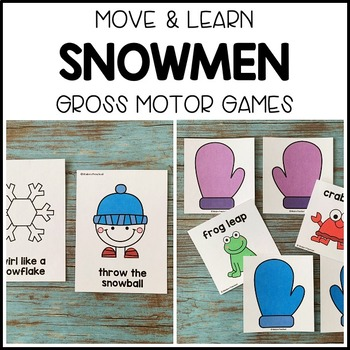 SNOWMEN Move & Learn Gross Motor Games for Preschool, Pre-K, & Kinder