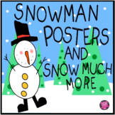Winter Snowman Bulletin Board Set with Matching Name Plates