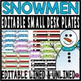 Winter Decor Snowman Desk Tags