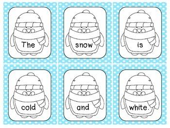 SNOWY Scrambled Sentences