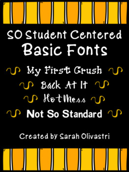 SO Student Centered Fonts - Personal & Commercial Use