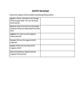 SOAPST Worksheet