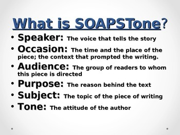 SOAPSTONE-Understanding Non-Fiction Writing (Expository text)