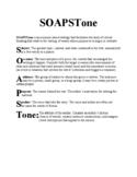 SOAPSTone Analysis