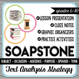 SOAPSTone Text Analysis Strategy - Lesson, Activities, and