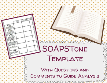SOAPSTone Worksheet Template