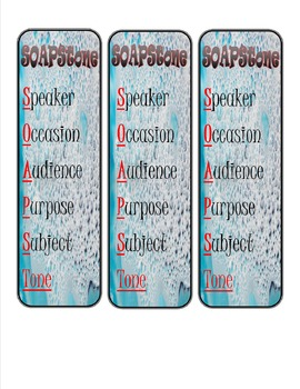 SOAPStone Bookmarks- Informational Text Comprehension