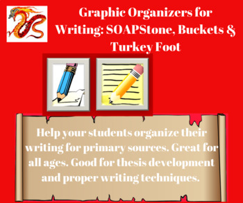 Graphic Organizers for Writing: SOAPStone, Buckets & Turkey Foot