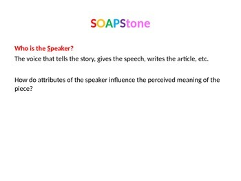 SOAPStone Powerpoint - simple and colorful