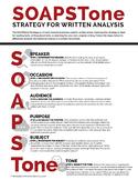 SOAPStone Strategy: Writing Analysis Handout