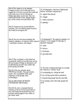 SOAPStone Test 1 for Reading Comprehension and Analysis