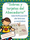 SOBRES Y TARJETAS DEL ABECEDARIO. LECTURA Y ESCRITURA EN ESPAÑOL.
