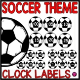 Telling time Clock Labels Soccer Theme