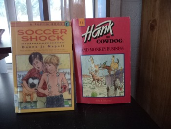 SOCCER SHOCK    HANK THE COWDOG       (set of 2)