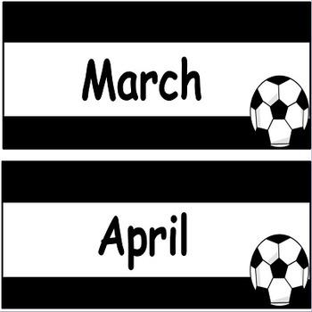 Soccer Calendar and Clock Decor