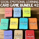 SOCIAL EMOTIONAL LEARNING CARD GAME BUNDLE #2! Fun SEL & Counseling Activities!