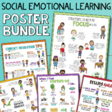 SOCIAL EMOTIONAL LEARNING POSTER BUNDLE: SEL Classroom & School Counseling Decor