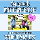 Distance Learning Social Inference Printables Social Langu