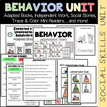 SOCIAL SKILLS BUNDLE (Behavior, Emotions, Calming Strategies) Special Education