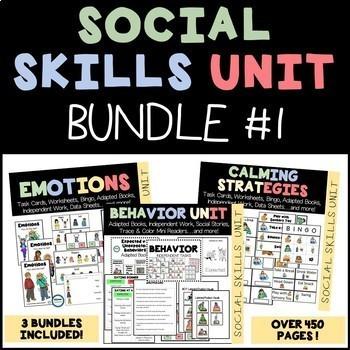 SOCIAL SKILLS BUNDLE (Behavior, Emotions, Calming Strategies)