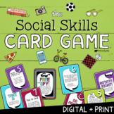 SOCIAL SKILLS CARD GAME! Conversation- Empathy -Friendship Skills Group Activity