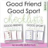 SOCIAL SKILLS  Checklist Bundle {Good Friend & Good Sport 24 Differentiated}