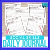 #July19halfoffspeech No Prep Social Skills Daily Journal