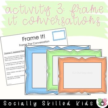 SOCIAL SKILLS: Eye Contact Approximation Activities {k-5th Grade or Ability}