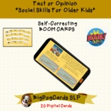 Fact or Opinion BOOM CARDS for Social Skills Group