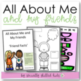ALL ABOUT ME AND MY FRIENDS Friend Facts {Activity, Social Story and Visuals}