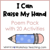 SOCIAL SKILLS Poem 3 - I Can Raise My Hand To Share Poem Chant or Song