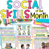 SOCIAL SKILLS OF THE MONTH Posters, Certificates, & Coloring/Activity Book!