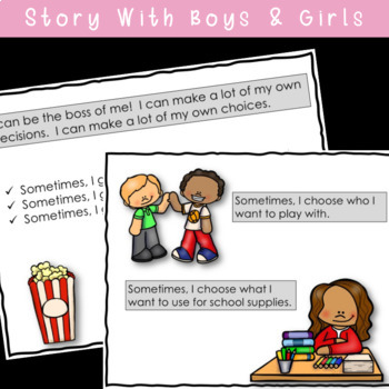SOCIAL STORY I Can Be The Boss Of Me! { k-2nd Grade or Ability Level }