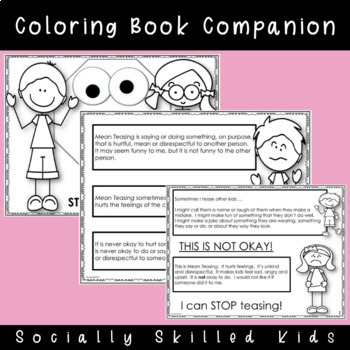 SOCIAL STORY I Can STOP Teasing! { For k-2nd Grade or Ability }