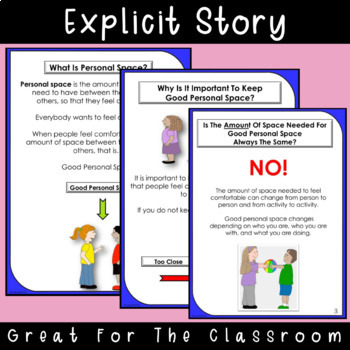 SOCIAL STORY: Personal Space {k-2nd Grade or Ability}