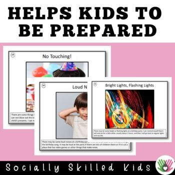 SOCIAL STORY SKILL BUILDER    I Am Going To A Birthday Party!