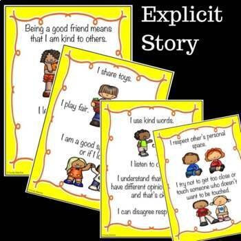 SOCIAL STORY SKILL BUILDER I Can Be A Good Friend {k-2nd Grade or Ability}