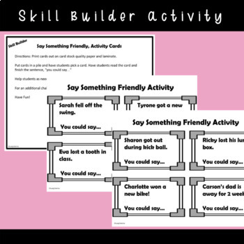 SOCIAL STORY SKILL BUILDER: I Can Use Friendly Words {k-2nd Grade or Ability}