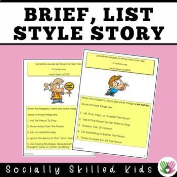 SOCIAL STORY SKILL BUILDER  What Can I Do If Someone Is Bothering Me?