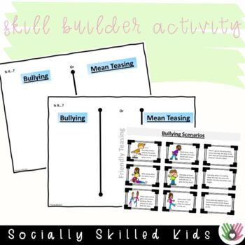 SOCIAL STORY and Activity: I Know What Bullying Is, And Isn't {For 3rd-5th}
