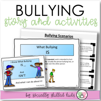 SOCIAL STORY SKILL BUILDER I Know What Bullying Is, And Isn't {For 3rd-5th}