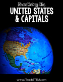SOCIAL STUDIES 50 States and Capitals Bingo, Memory, Matching Game