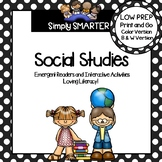SOCIAL STUDIES EMERGENT READER BOOKS AND INTERACTIVE ACTIV