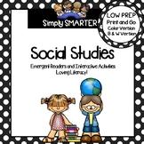 SOCIAL STUDIES EMERGENT READER BOOKS AND INTERACTIVE ACTIVITIES GROWING BUNDLE