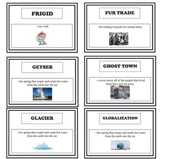 SOCIAL STUDIES GRADE 4 ENTIRE YEAR OF CONTENT VOCABULARY