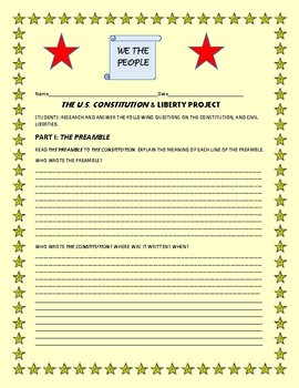 SOCIAL STUDIES: HISTORY/CONSTITUTION & LIBERTY PROJECT